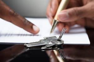 signature d'un acte de vente immobilier